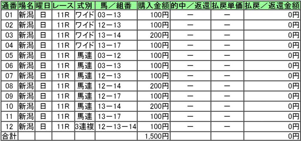 160904新潟11レース購入画像