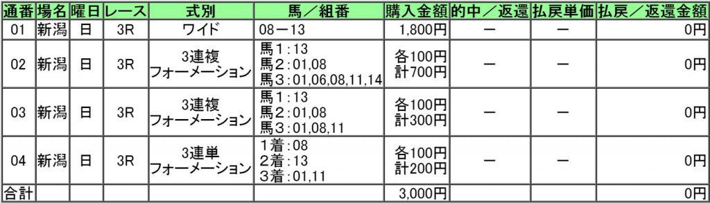 160904新潟3レース購入画像