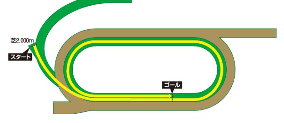 サンタアニタパーク芝2000mのコース図